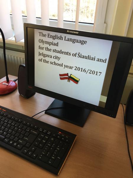 Jelgavas un Šauļu pilsētu 8. kl. skolēnu starptautiskā angļu valodas  olimpiāde