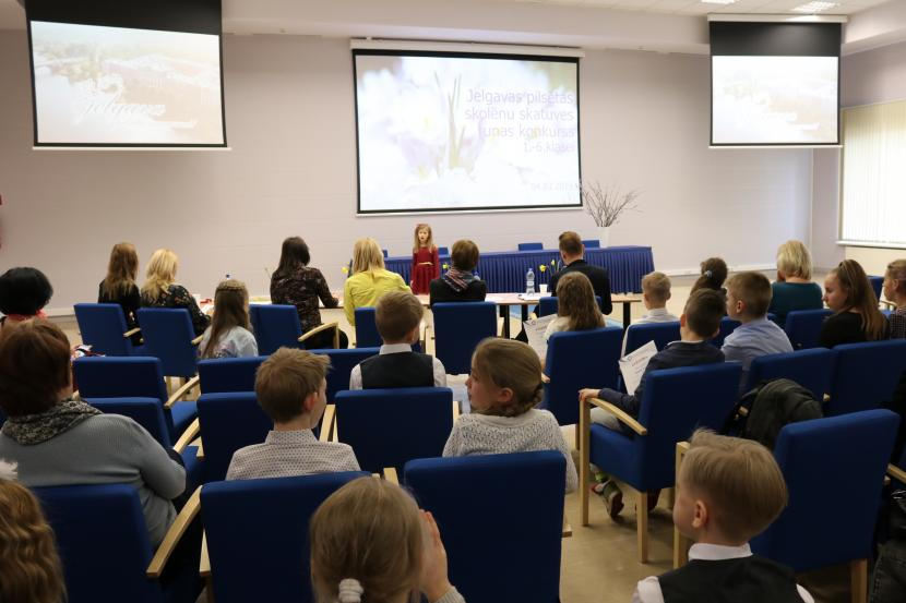 Jelgavas pilsētas skolēnu skatuves runas konkurss 1.-6.kl.