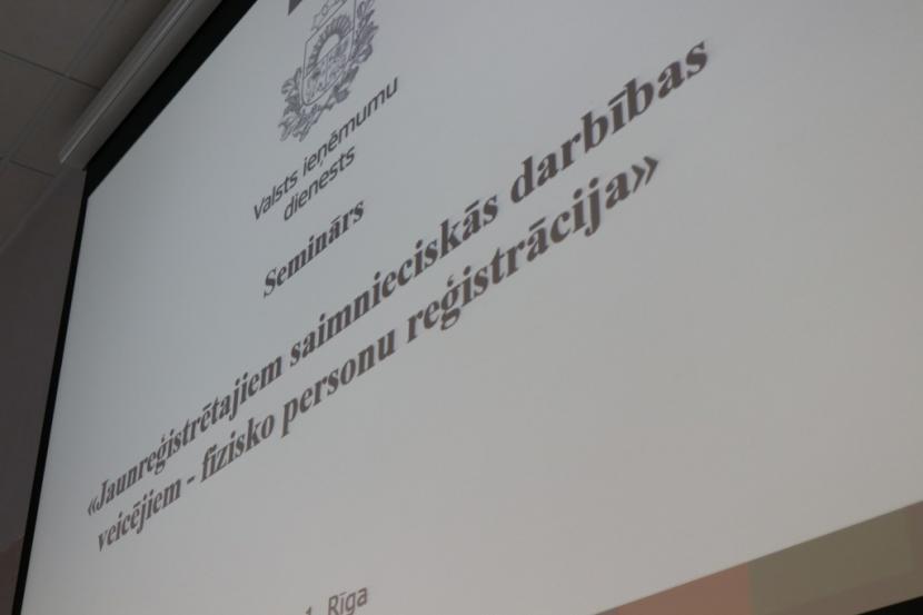 VID seminārs fiziskām personām, kuras reģistrējušas saimniecisko darbību