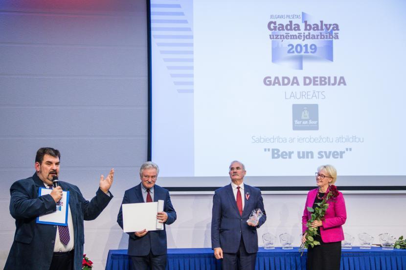 """""""Jelgavas pilsētas gada balva uzņēmējdarbībā 2019"""" uzvarētāji"""