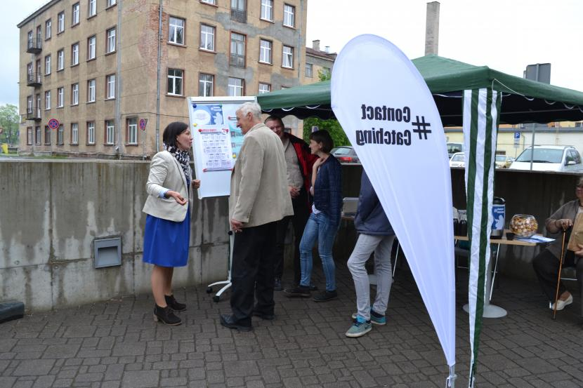 Spēle #ContactCatching 2016. gada tūrisma sezonas atklāšanā Jelgavā